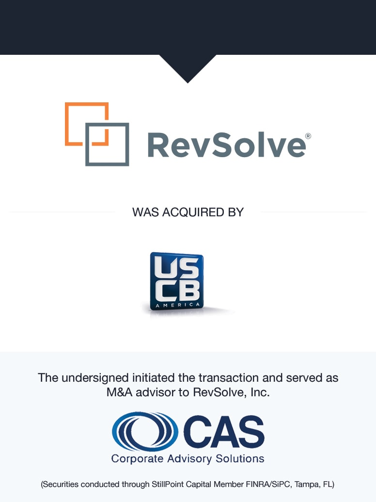 RevSolve   Select Transaction   Corporate Advisory Solutions