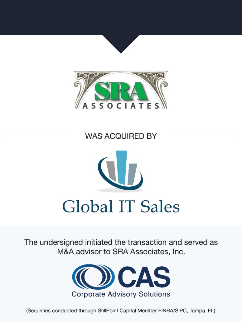 SRA Associates | Select Transaction | Corporate Advisory Solutions