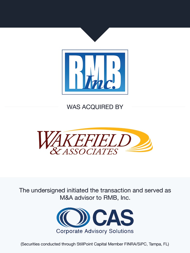 RMB, Inc.   Select Transaction   Corporate Advisory Solutions