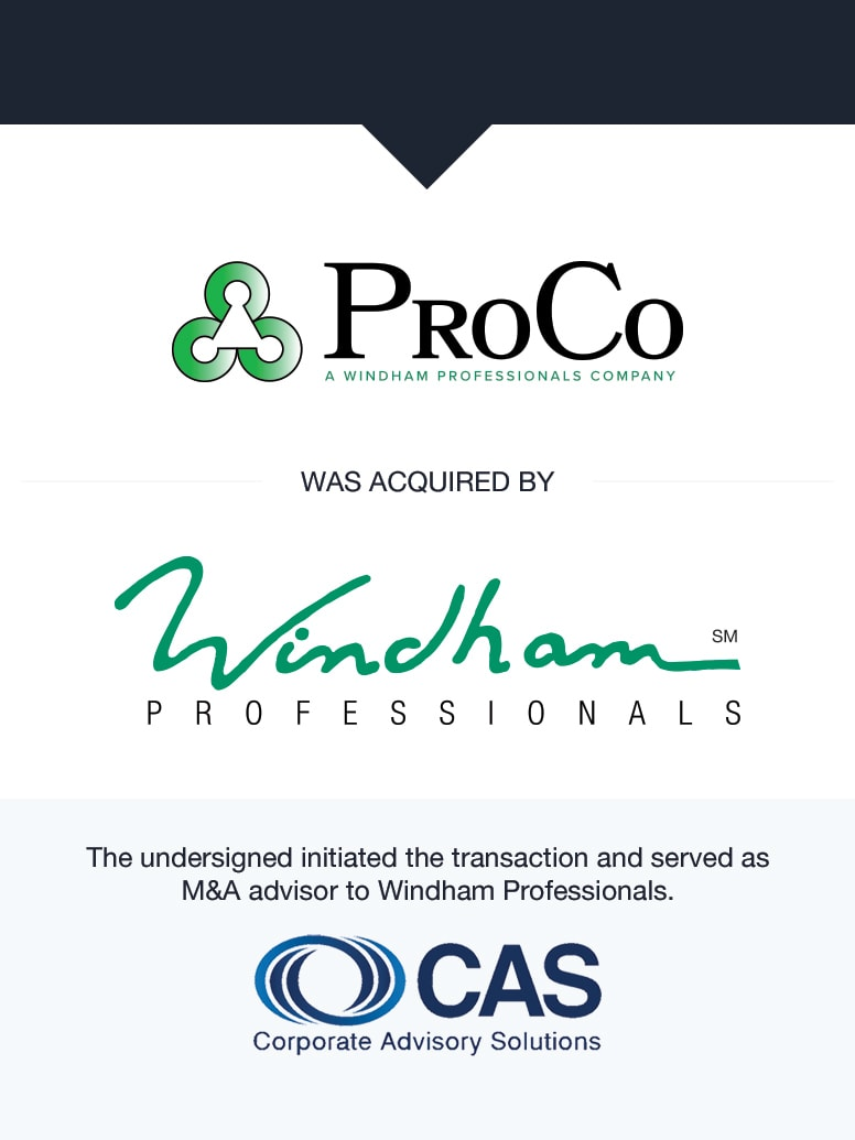 Windham Professionals   Select Transaction   Corporate Advisory Solutions