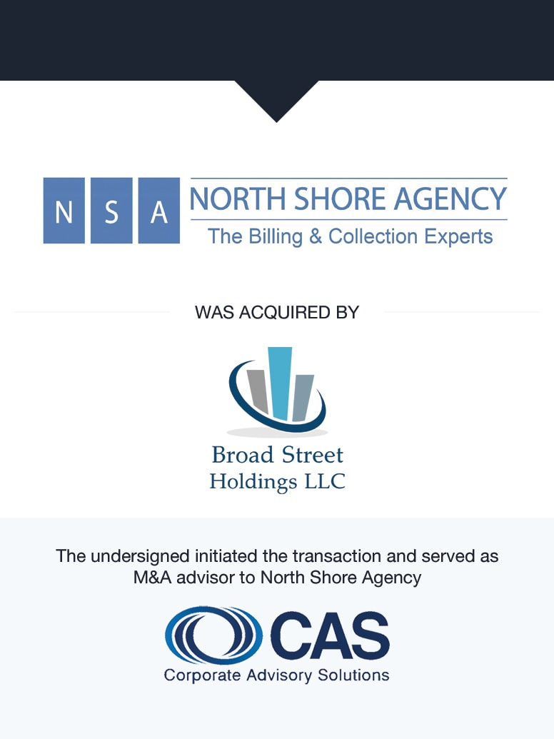 North Shore Agency | Select Transaction | Corporate Advisory Solutions