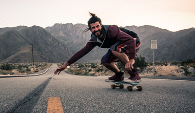 man skateboard