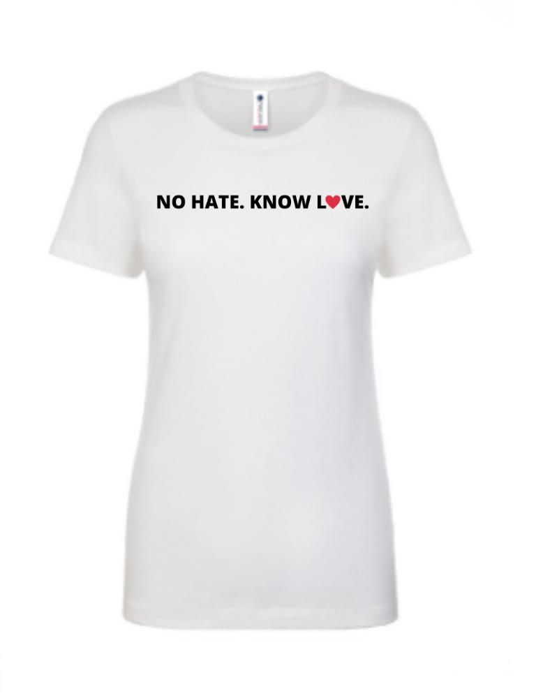 No Hate. Know Love. Apparel