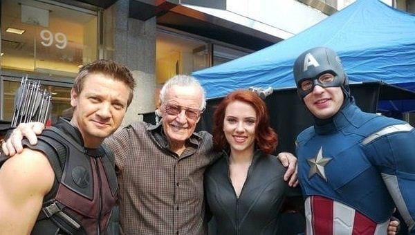 Stan Lee Chris Evans MovieSpoon.com