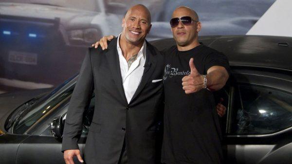 Dwayne Johnson VIn Diesel Fast 8 MovieSpoon.com