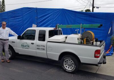 Heath Pest Control, Jon Heath and truck