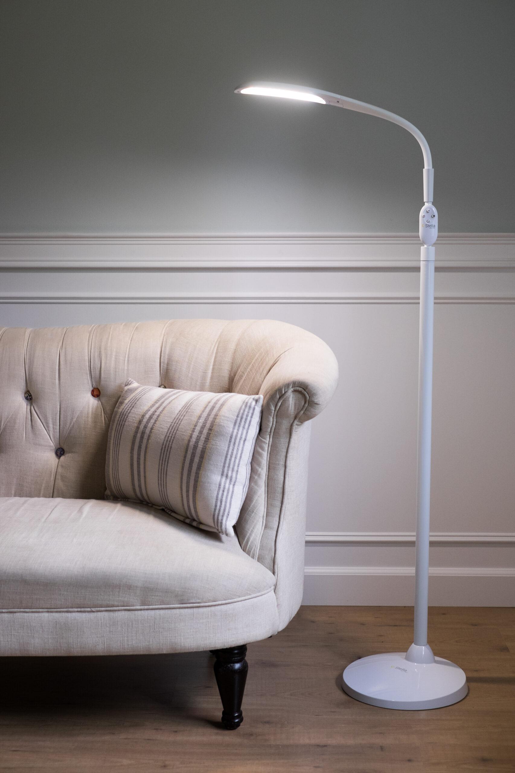 Low vision floor lamps improve ambient room lighting.
