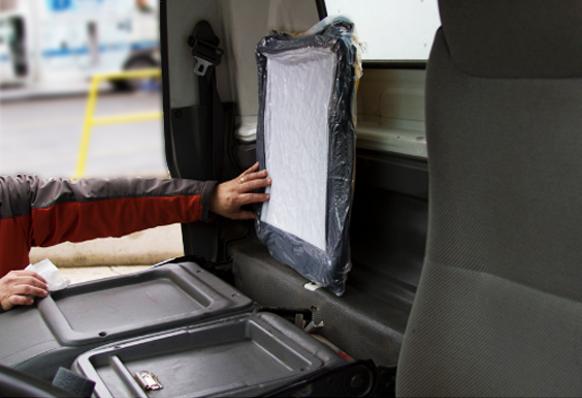 Trucker Kit behind seat