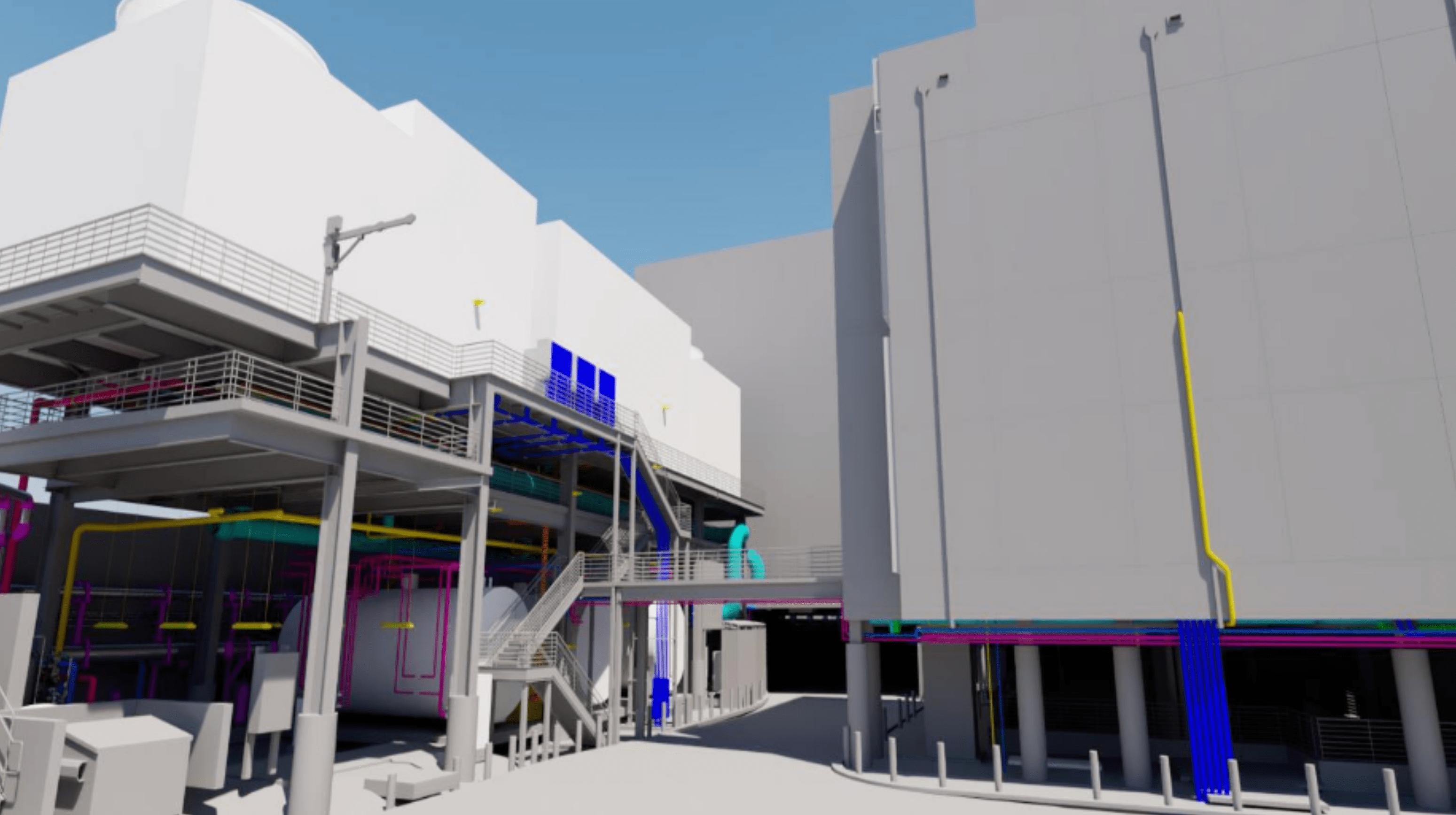 Rendering of the H Lee Moffitt Cancer Center Central Energy Plant