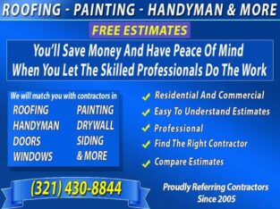 ROOFING HANDYMAN PAINTING