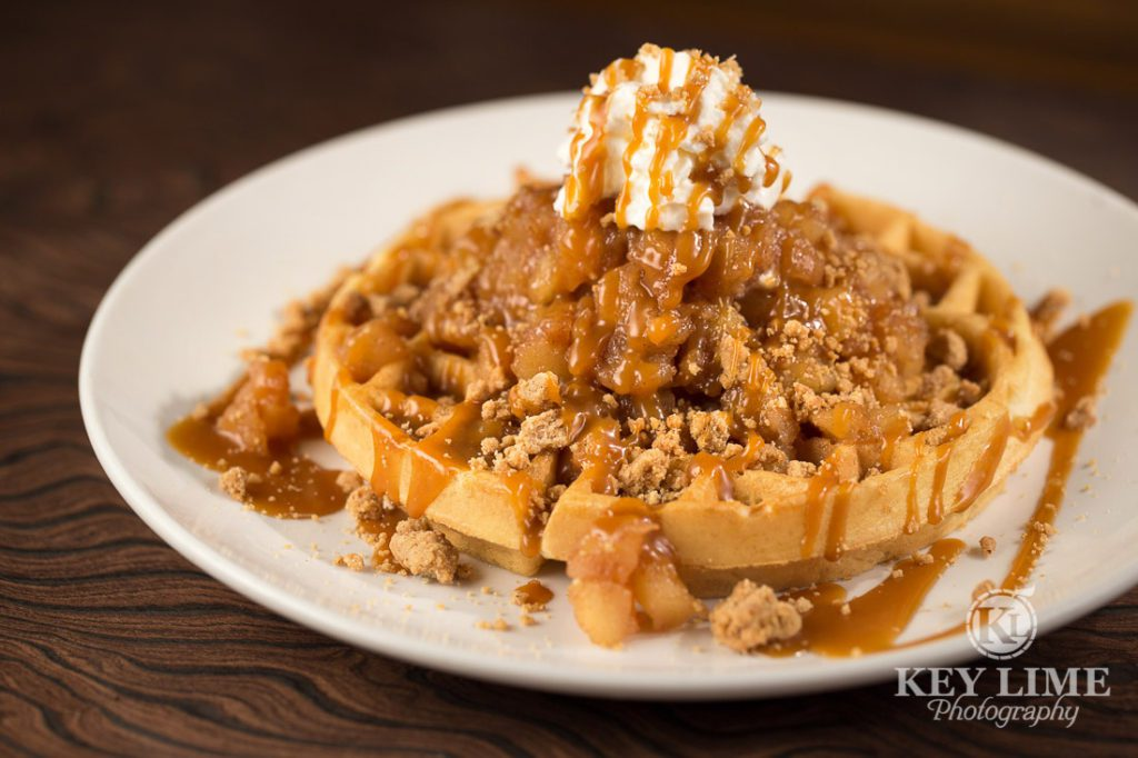 Food Photography Photo of Apple Pie Waffle at Mr Lucky's at the Hard Rock Hotel and Casino Las Vegas