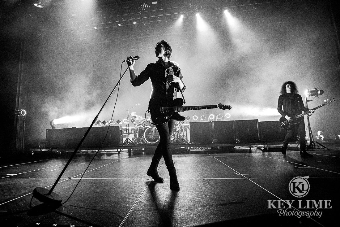Black and white moody image of Catfish and the Bottlemen. Concert in Las Vegas.