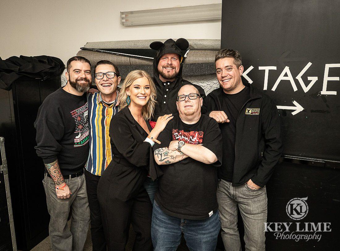 Vegas' best alt rock radio team, backstage at Holiday Havoc. x107.5