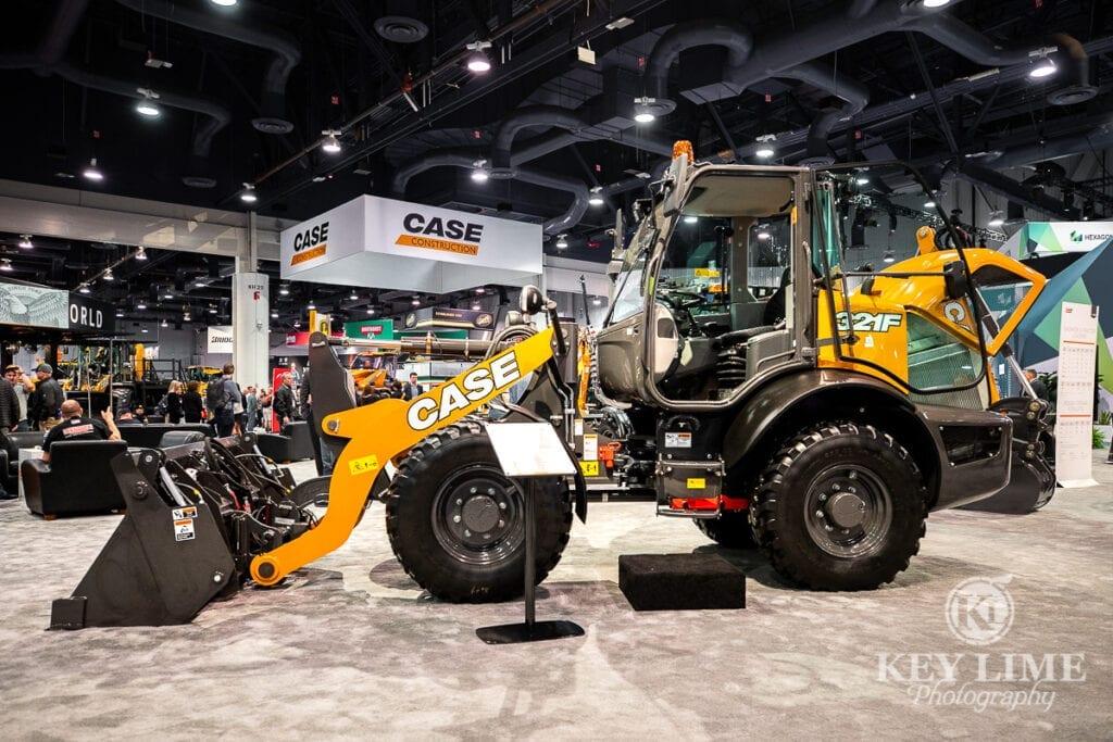 Case Construction Equipment at ConExpo 2020, tradeshow photography