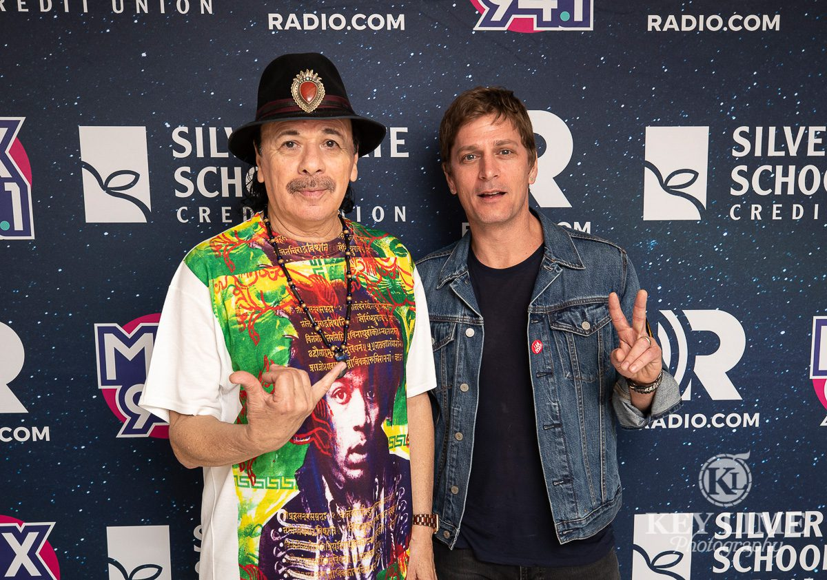 Carlos Santana and Rob Thomas, event photography of music and food in Las Vegas