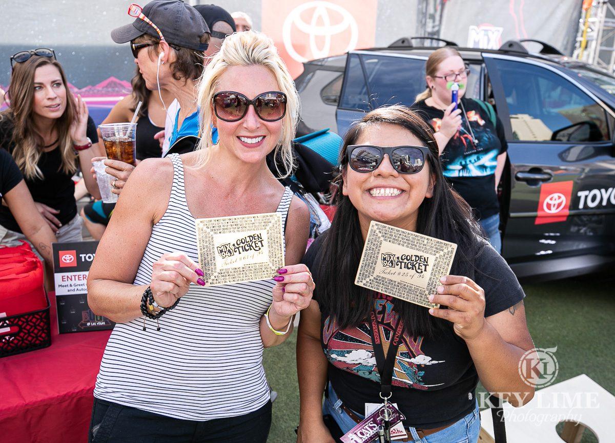 Golden Ticket holders, money giveaway event photo