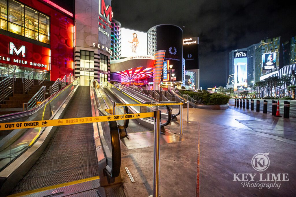 Closed walking paths, yellow caution tape, warning, silent city during virus outbreak