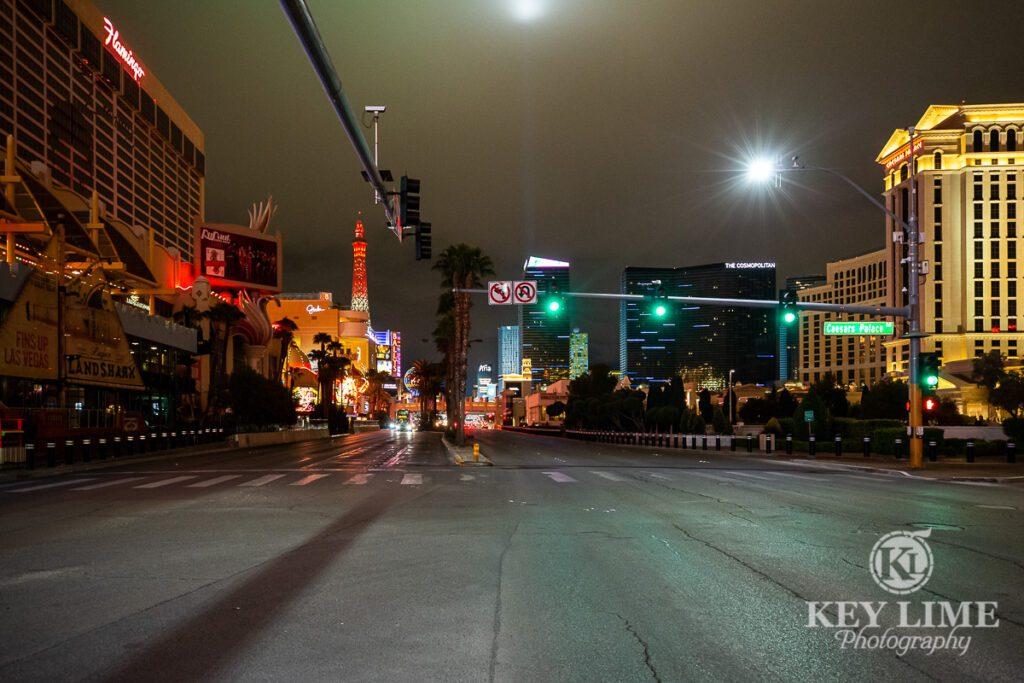 Las Vegas Photographer photo of empty street during pandemic