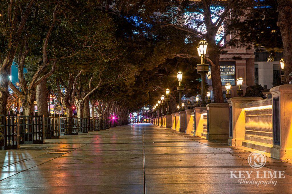 Las Vegas Photographer photo of empty sidewalk during Coronavirus pandemic