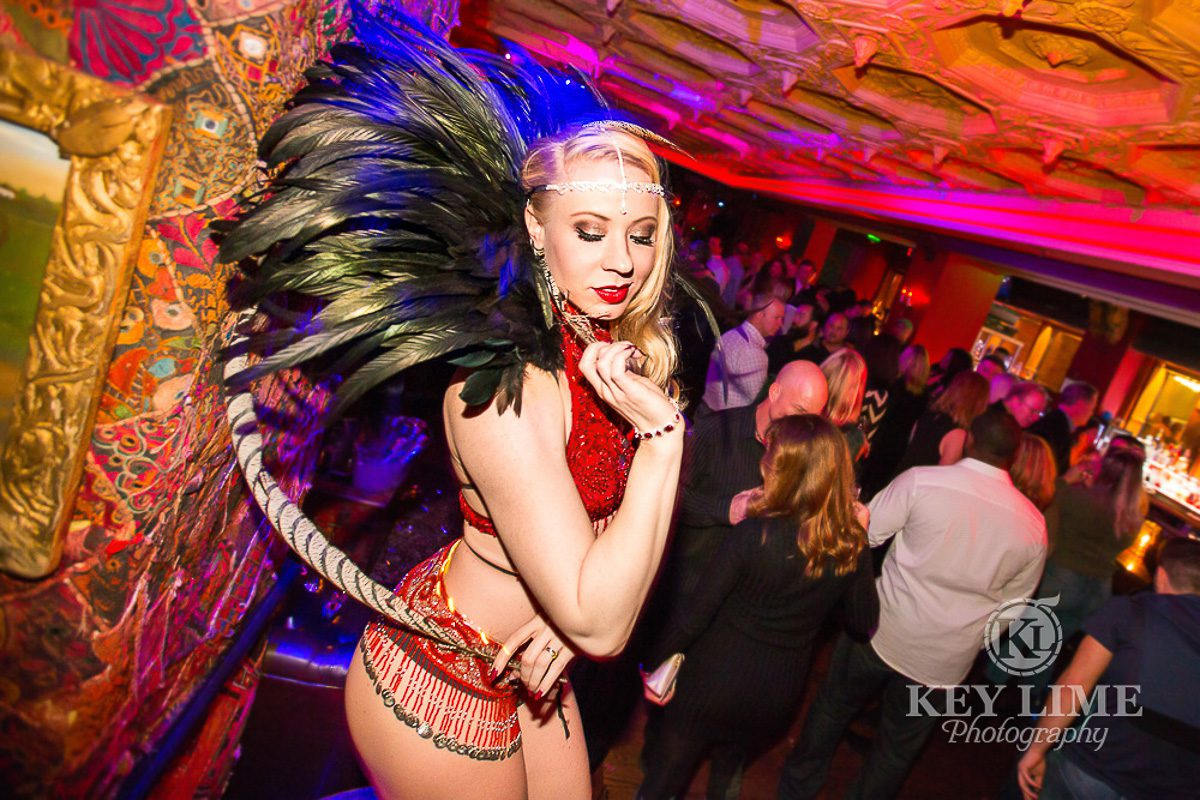 Photo of sexy dancer in a nightclub. Captured by a corporate event photographer in Las Vegas.