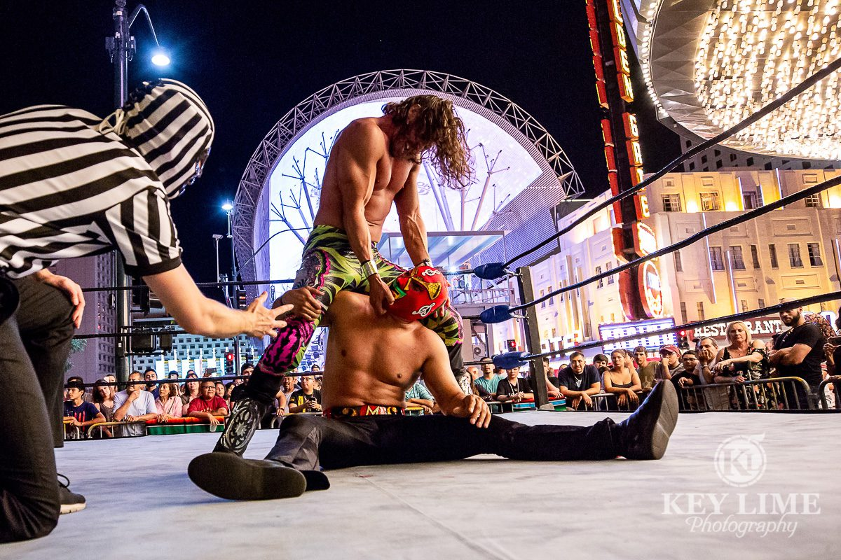 Lucha Libre wrestling event at Plaza Hotel in Las Vegas. Captured by event photographer Key Lime Photography