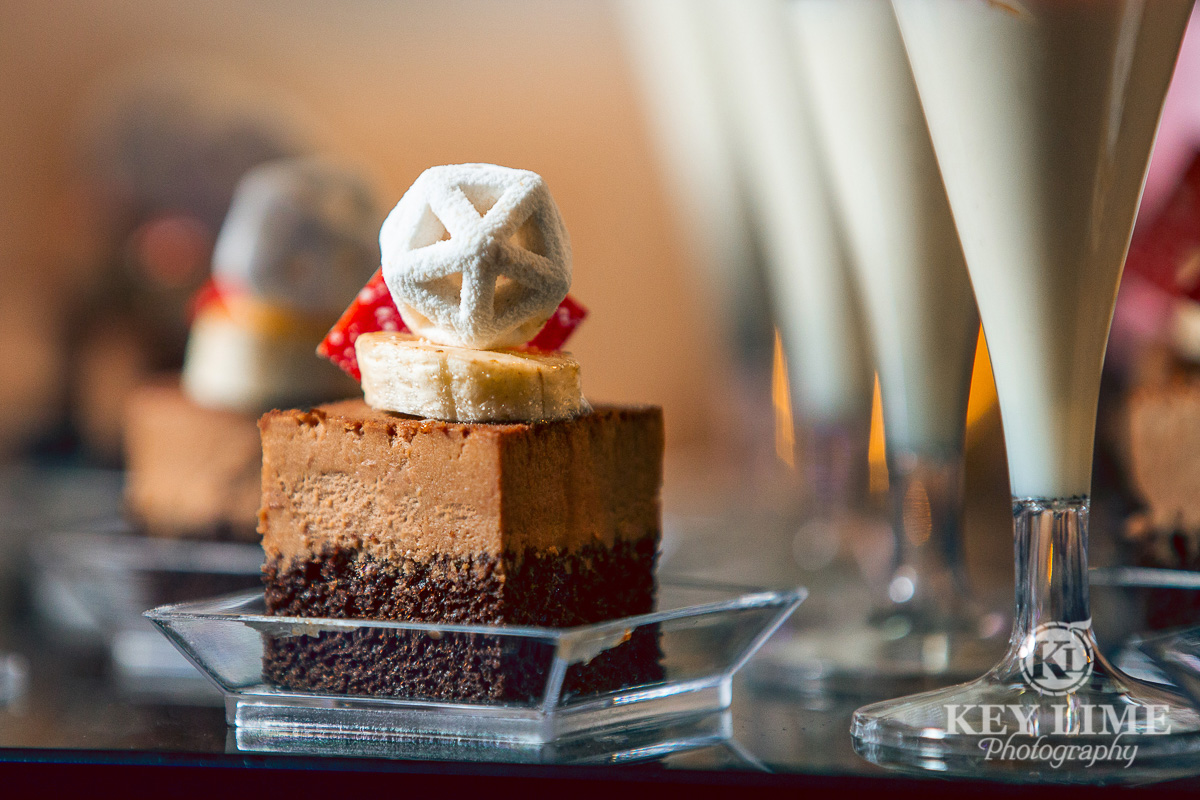Mignardises served with yogurt parfait. Amuse Bouche food photography.