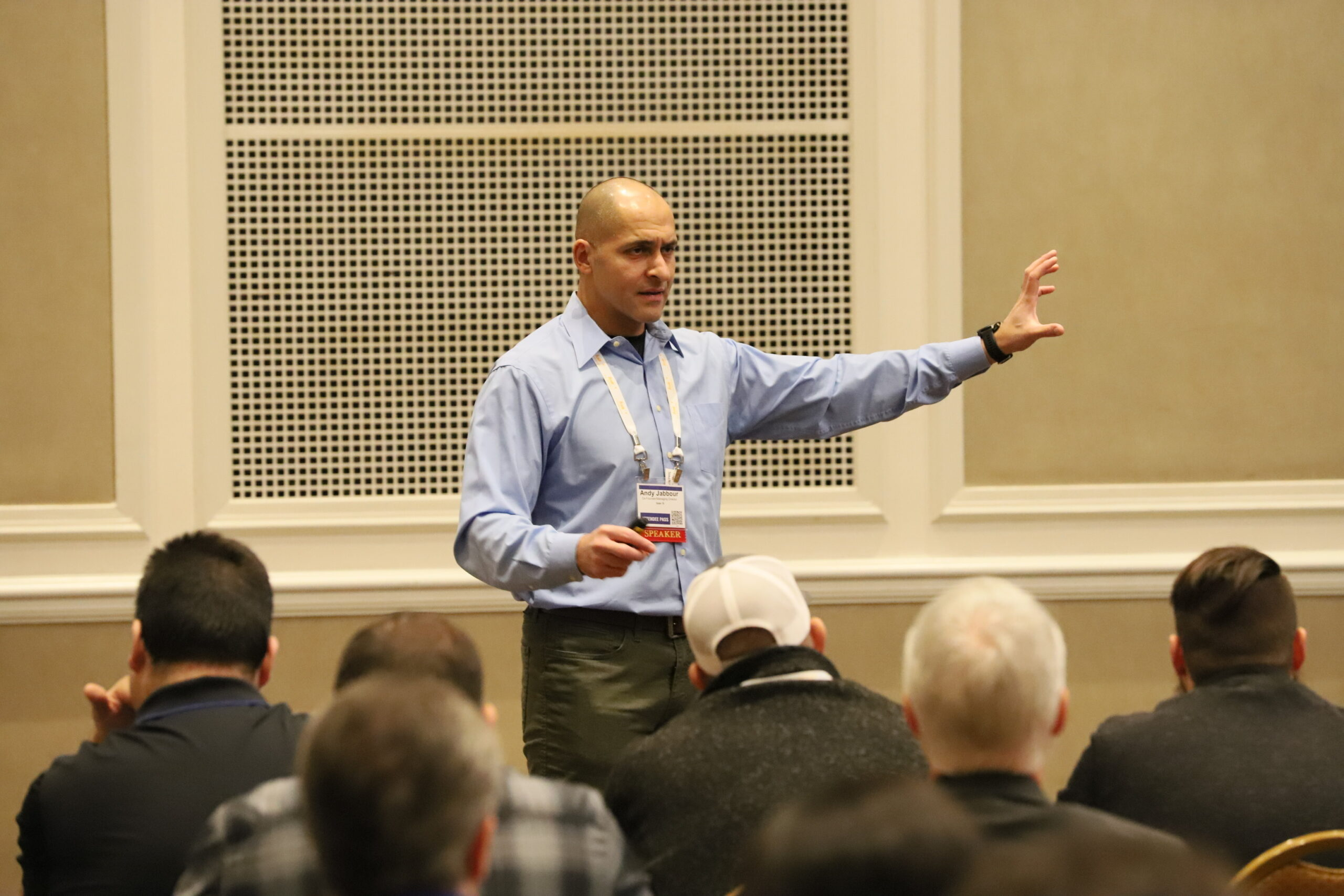 Andy Jabbour Speaks at a security seminar
