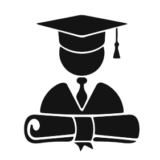 graduate icon with hat and diploma