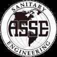 asse black and white logo