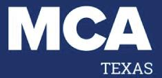 mca texas blue and white logo