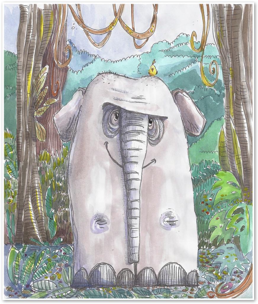 endangered animals - elephant - pourquoi tale
