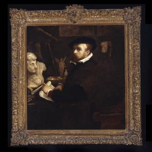 El pintor en su estudio [probable autorretrato]