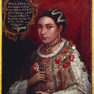 Retrato de Sebastiana Inés Josefa de San Agustín. India cacique