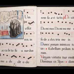 Libro de coro Oficio de las Vísperas de María