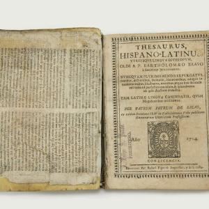 Diccionario latín-español del siglo XVIII.