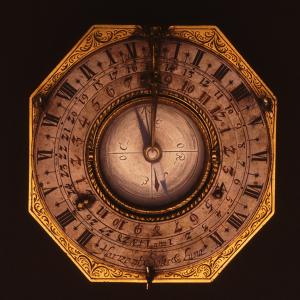 Reloj horizontal con reloj equinoccial