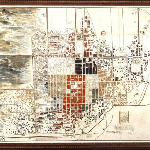 Plano de la Imperial México con la nueva distribución de territorios parroquiales