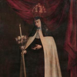 Retrato de monja coronada