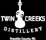 Twin Creeks logo Franklin CoWHITE Small