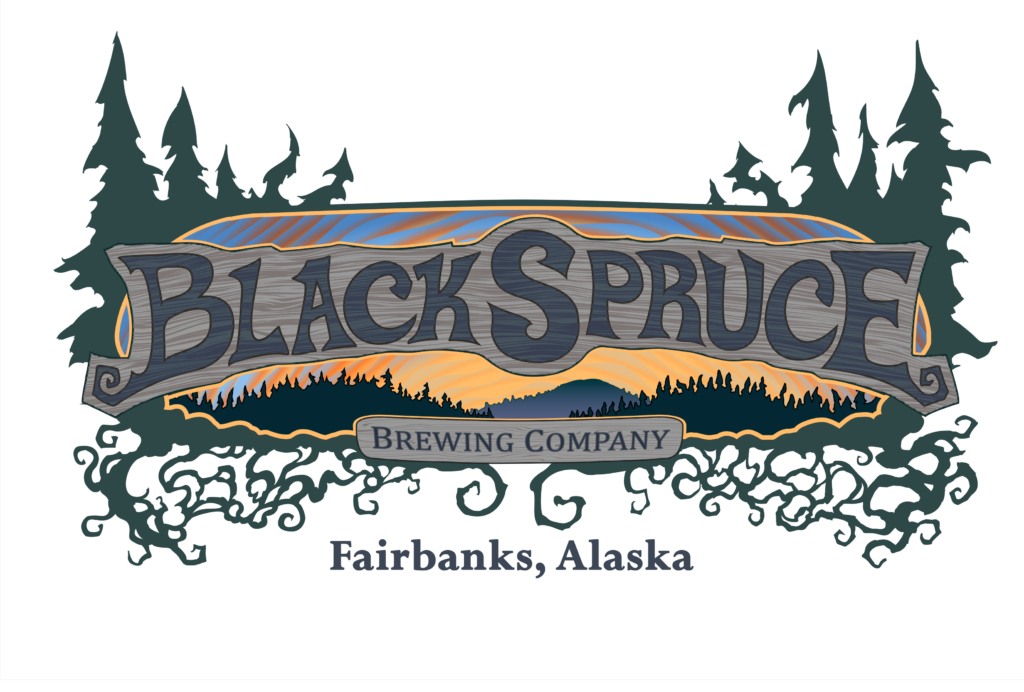 Logo for Black Spruce Brewing Company