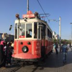 The famous tram in Taksim square