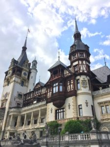 The façade of Peleș Castle
