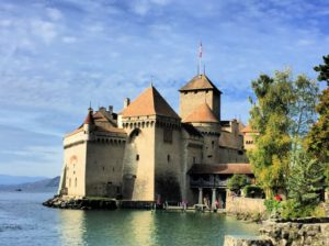 The imposing Chillon castle