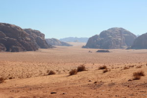 The immensity of the desert