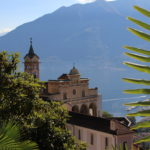 Madonna del Sasso and a palm tree