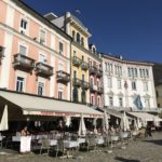 The pastel colors of Piazza Grande