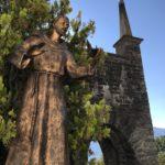 A statue close to the sanctuary