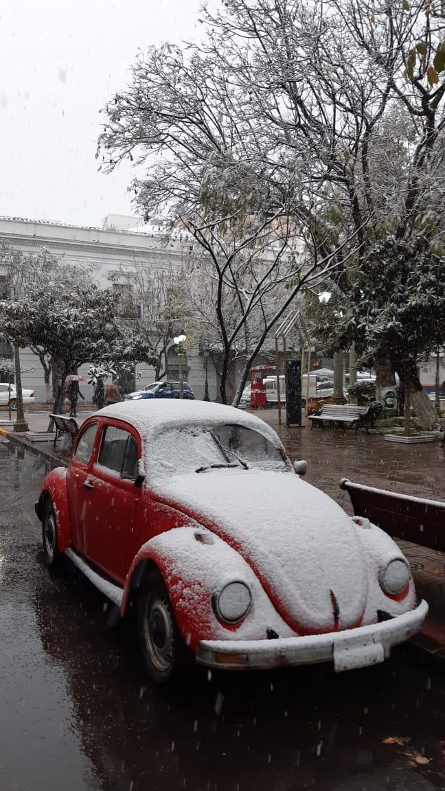 A car under snow