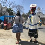 Chuncho with an indigenous woman in La Loma