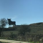 On our way to Córdoba (don't be afraid of these bull signs on Spanish roads!)